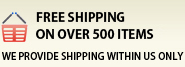 Free Shipping on over 500 Items